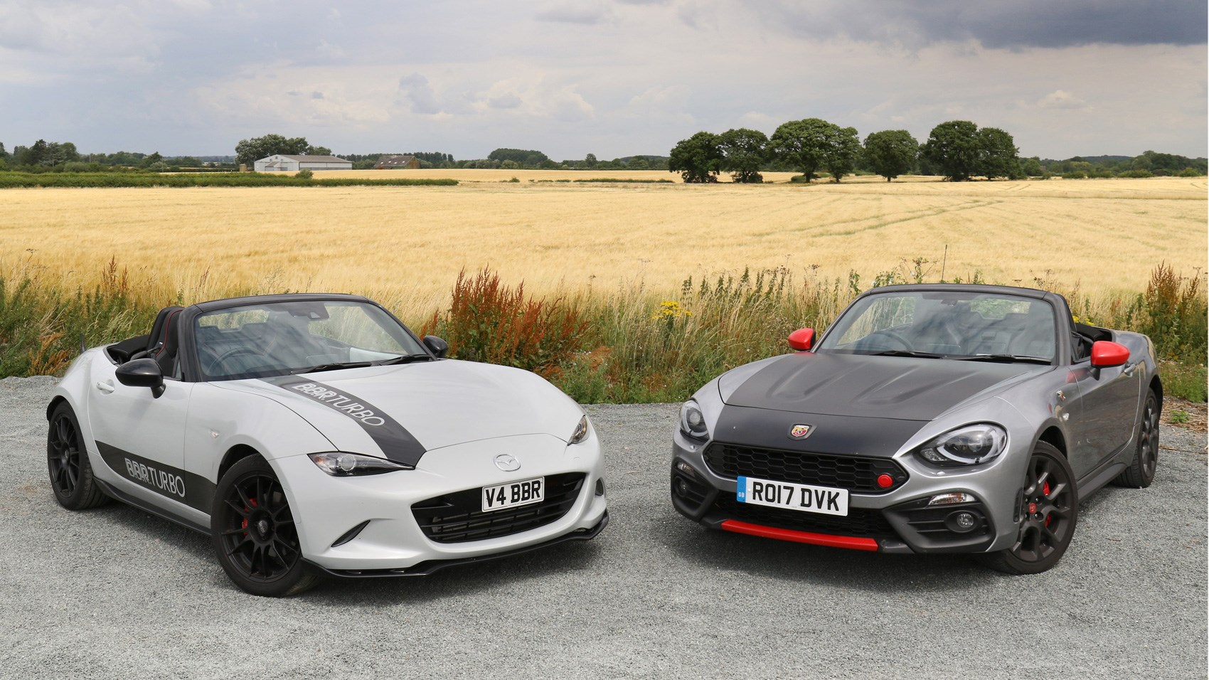 Abarth 124 Spider Vs Mazda Mx 5 Bbr Twin Test Review By