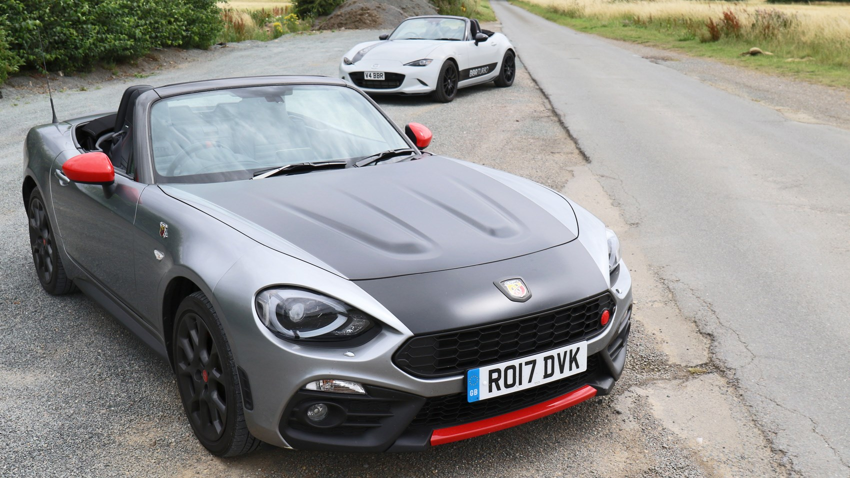 abarth 124 spider vs mazda mx 5 bbr twin test review by car magazine. Black Bedroom Furniture Sets. Home Design Ideas