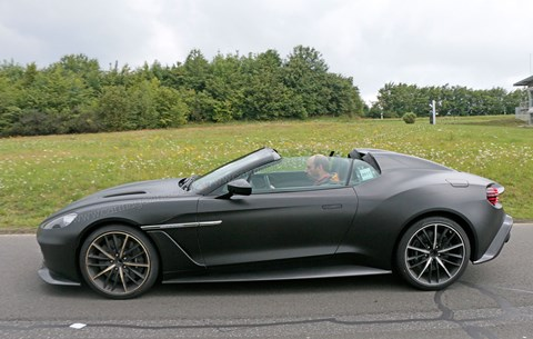 Double-bubble rear end for new Aston Martin Vanquish Zagato Speedster