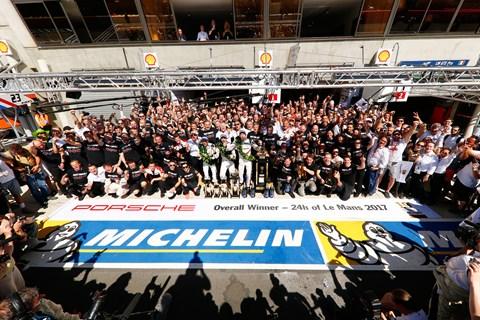 Porsche celebrates 2017 LM win