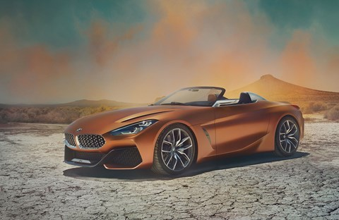 The new 2017 BMW Concept Z4 show car at Pebble Beach