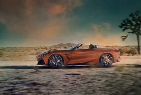 BMW Concept Z4: a slick side profile