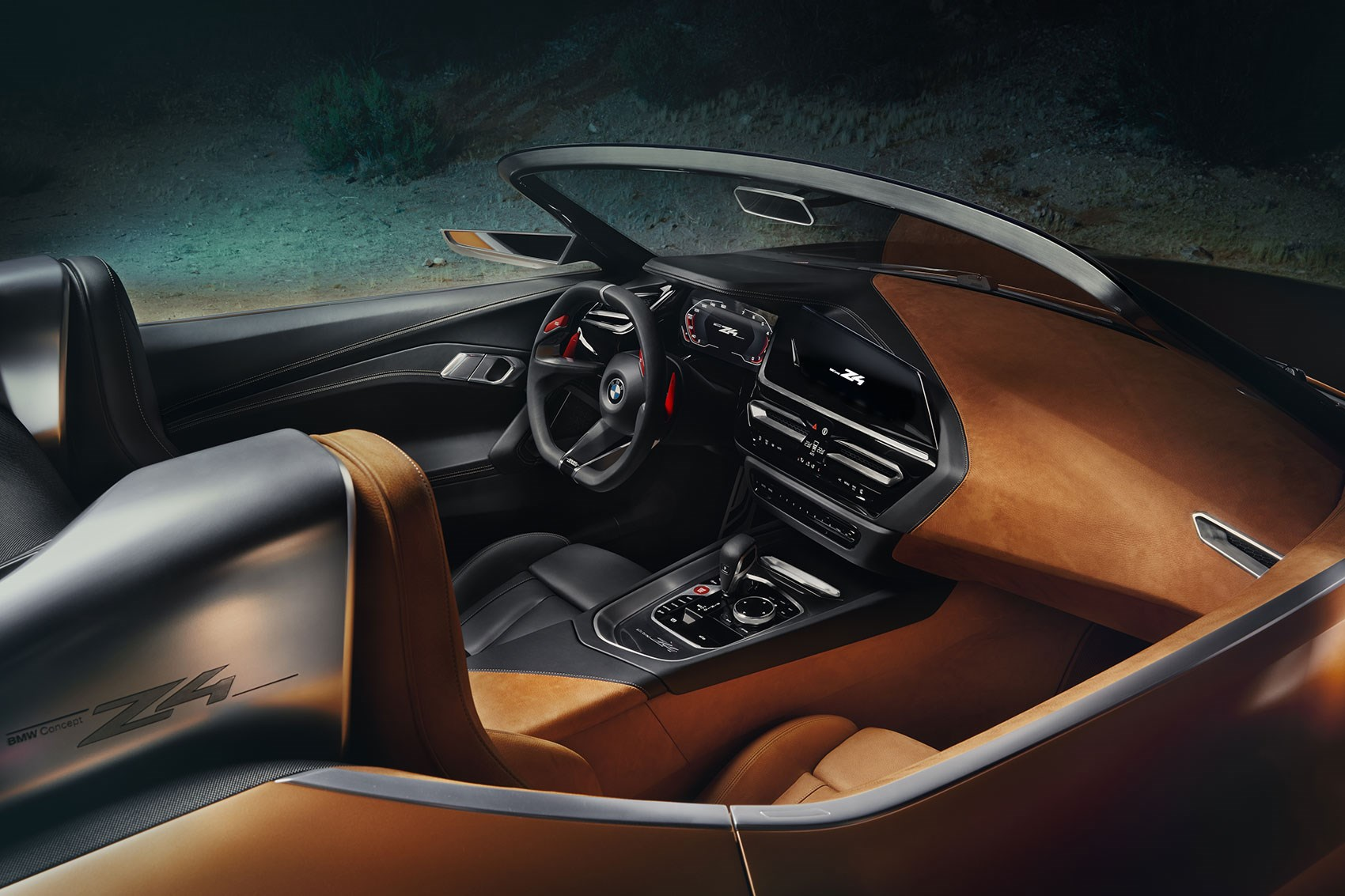 Great ... New BMW Z4 Two Tone Cabin For Concept Z4: Black And Focused For Driver,  Tan Suede For Passenger (a Familiar Motif) ...