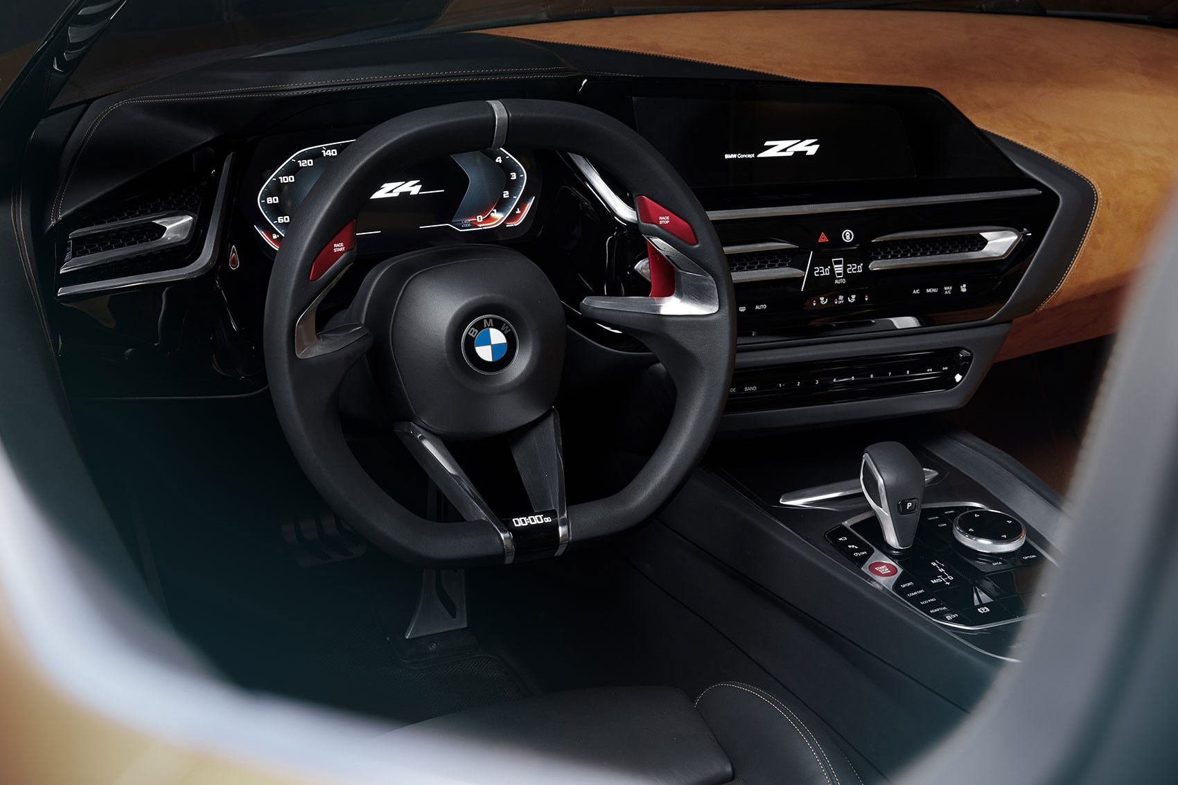 2018 bmw concept car. delighful 2018 stubby gearlever latest idrive the interior of 2018 bmw z4 in  concept version in bmw car