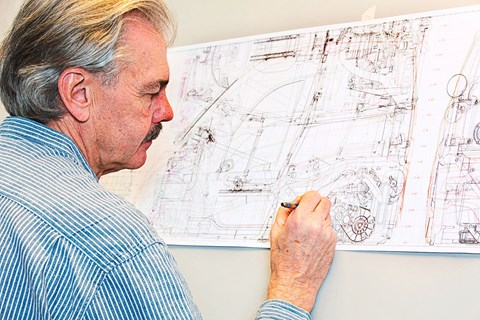 Gordon Murray designing his next masterpiece