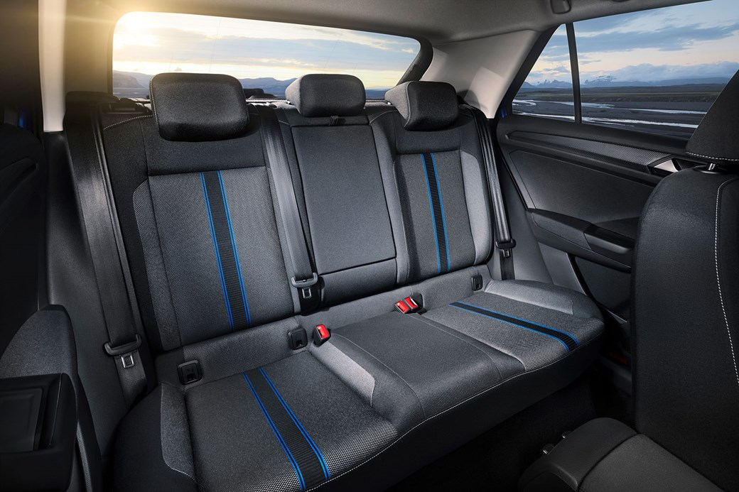 The VW T-Roc rear seats: this is a four- or five at a push - seater