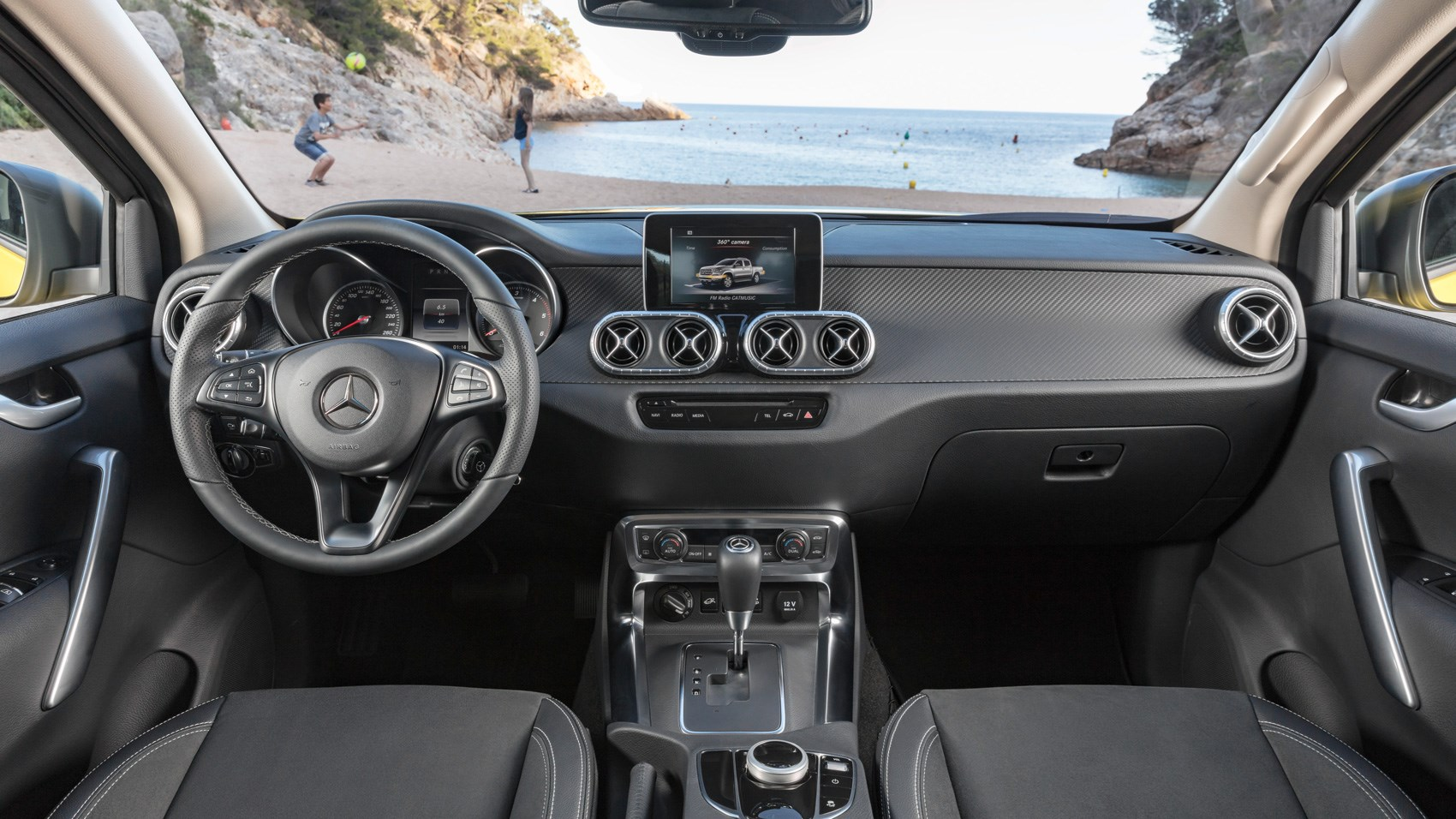 Mercedes X-Class yellow interior