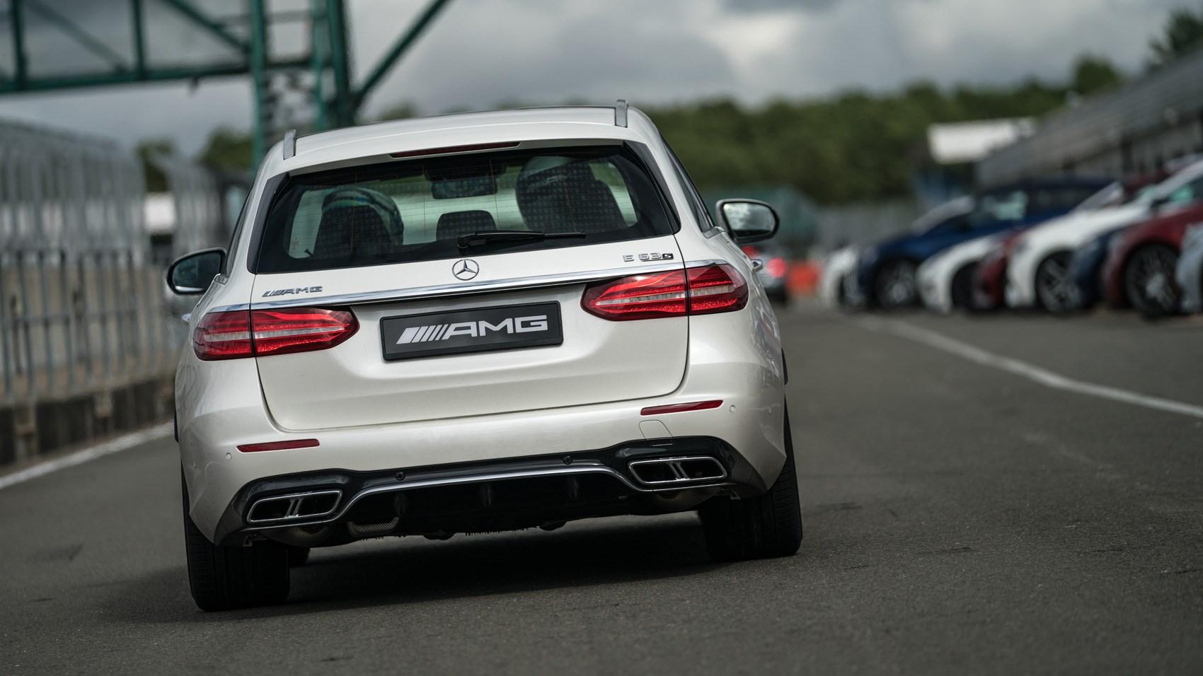 Mercedes-AMG E63 Estate track rear cornering