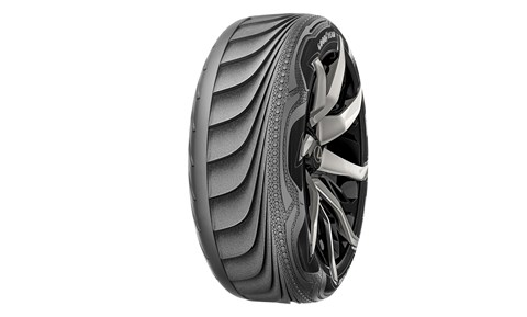 The Triple Tube concept changes the shape of the car tyre for different conditions
