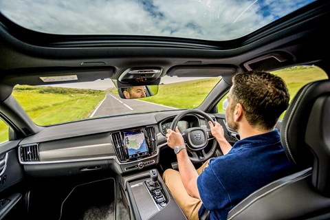 Volvo V90 interior: author Ben Oliver drives the CAR magazine long-term test V90 estate