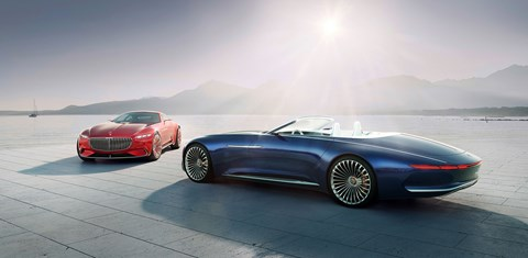 The Mercedes-Maybach Vision 6 twins: coupe and, now, a cabriolet too