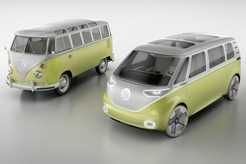VW Microbus old and new