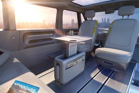 Inside VW ID Buzz minivan cabin
