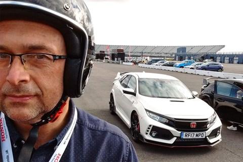Honda Civic Type R Colin selfie