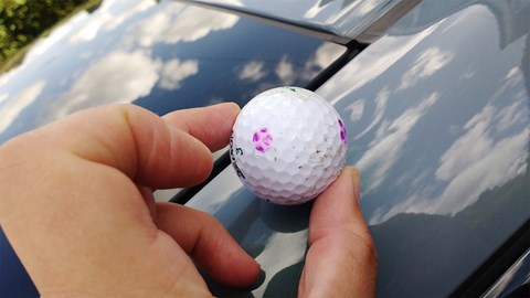 Honda Civic long-term test review: struck by a golf ball!
