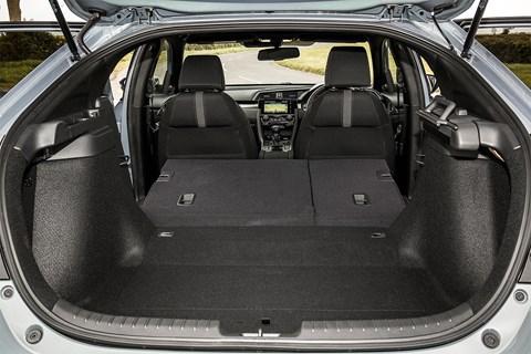 Huge boot on our Honda Civic hatchback