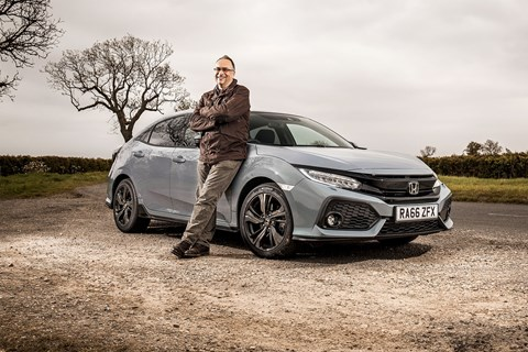CAR magazine's Colin Overland and our new 2017 Honda Civic hatchback