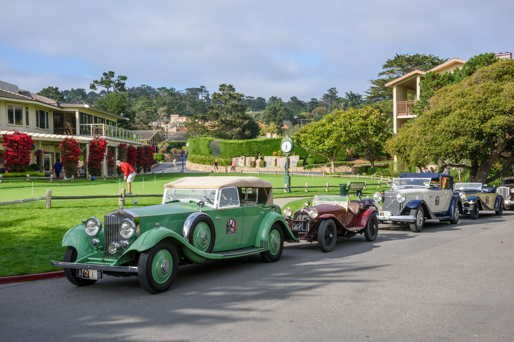 Lining up for the Prestigious Concours d'Elegance at Pebble Beach Courtesy of CAR Magazine