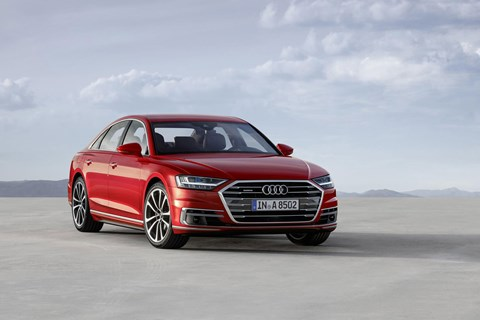 The new 2018 Audi A8: first to introduce the new Audi badges and names