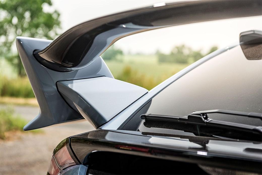 Honda Civic Type R rear spoiler: winging it