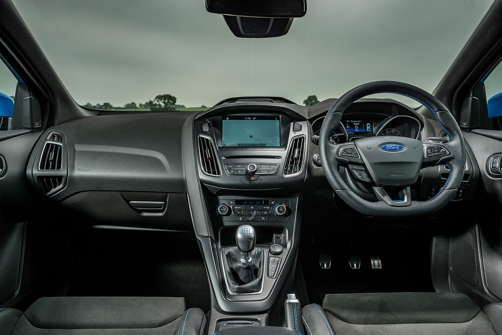 Ford Focus Rs Interior About As Inviting A Black Hole