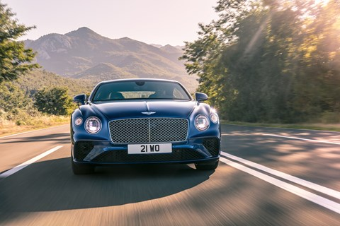 Bentley Continental GT 2018 front end tracking
