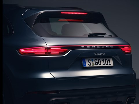 Porsche Cayenne tailgate and rear end