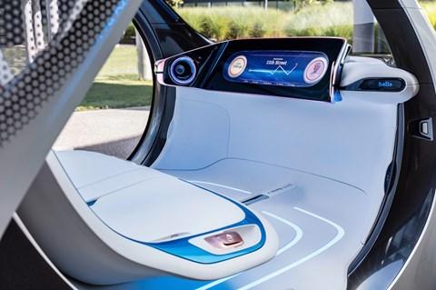 Smart Vision EQ ForTwo interior