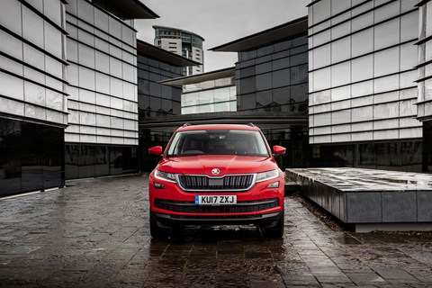 Skoda Kodiaq vRS is due to join range in autumn 2018, with striking bodykit and plenty of blacked-out chromework
