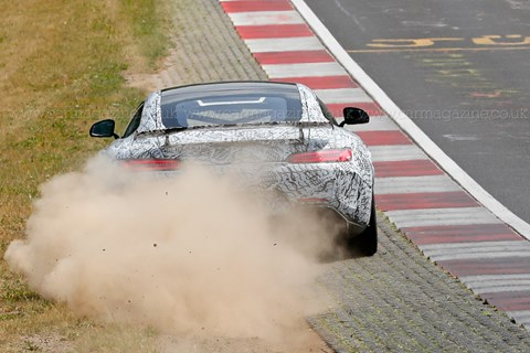 Mercedes AMG GT spyshots