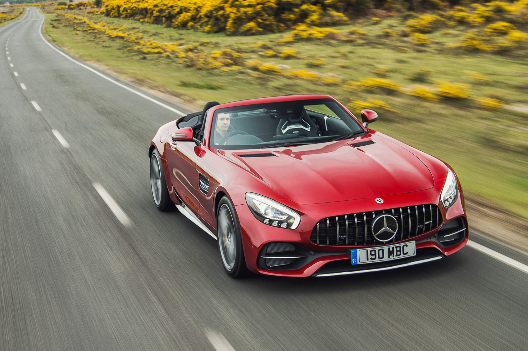 mercedes amg gt c roadster 2017 uk road test review car magazine. Black Bedroom Furniture Sets. Home Design Ideas