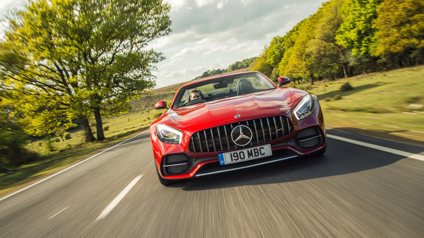 AMG GT C Roadster front end tracking