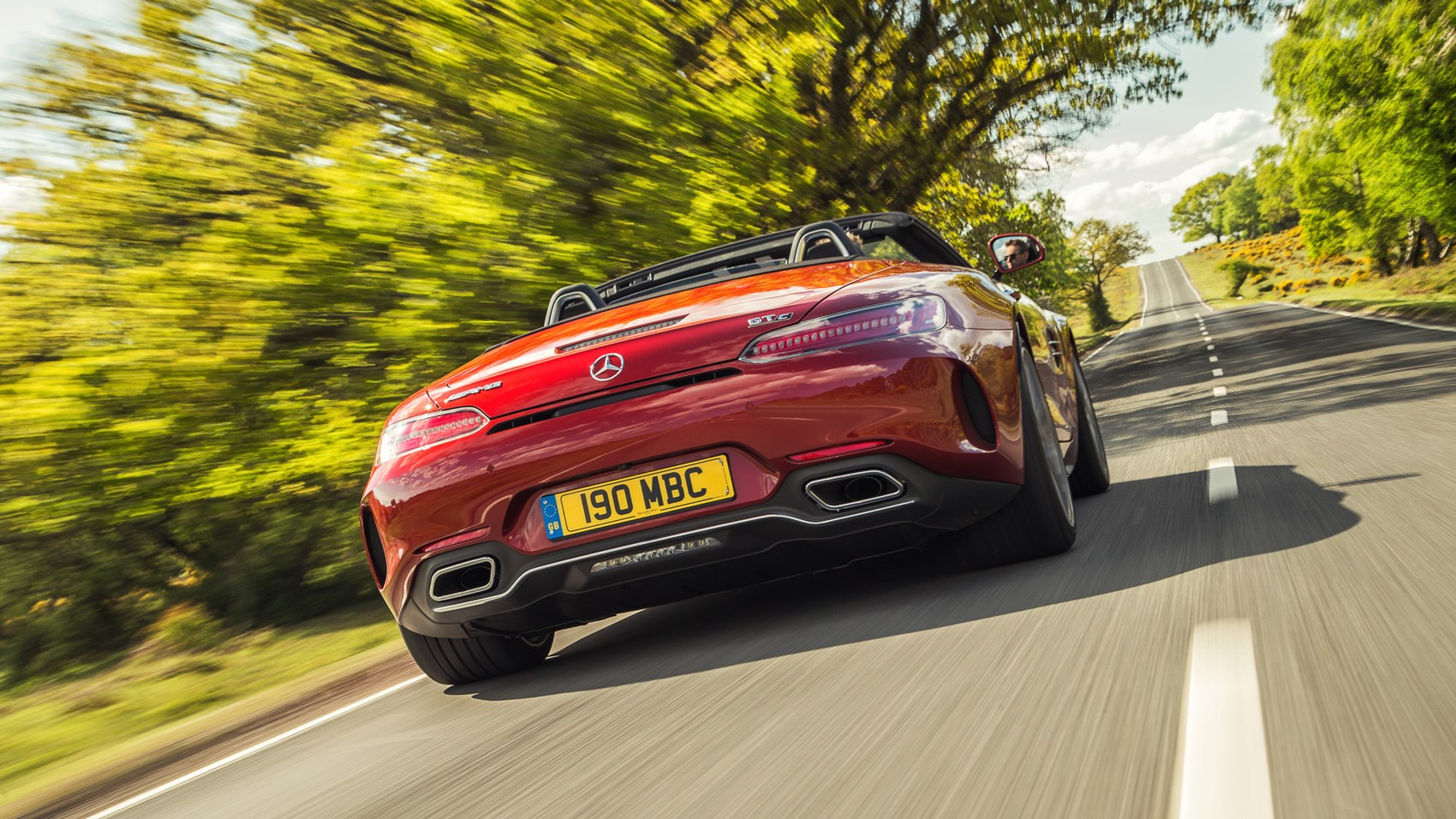 AMG GT C Roadster rear tracking