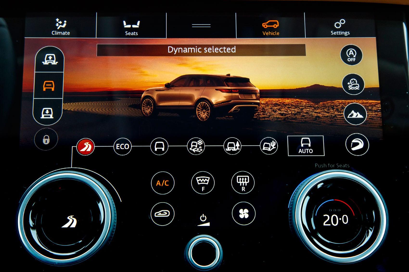 The digital screens on the new Range Rover Velar