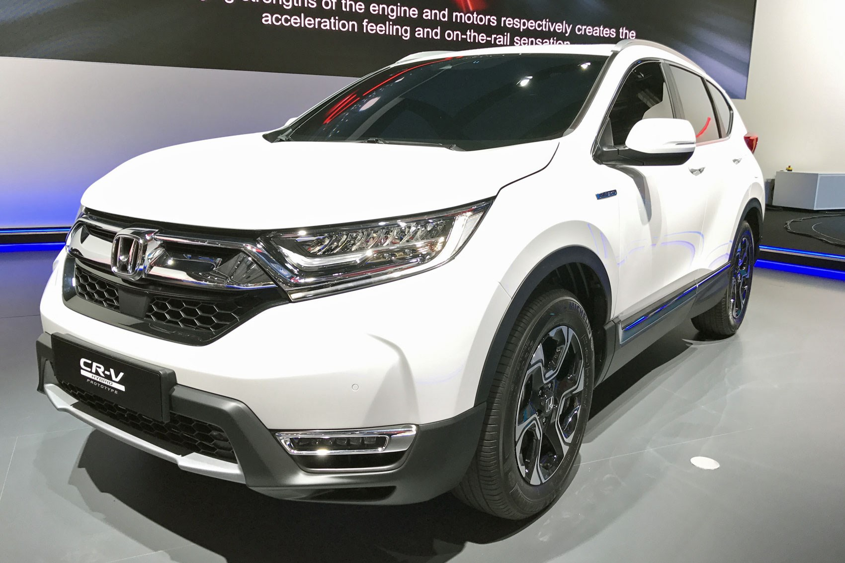 Hybridised honda suv new cr v hybrid prototype hits for Honda hybrid cars