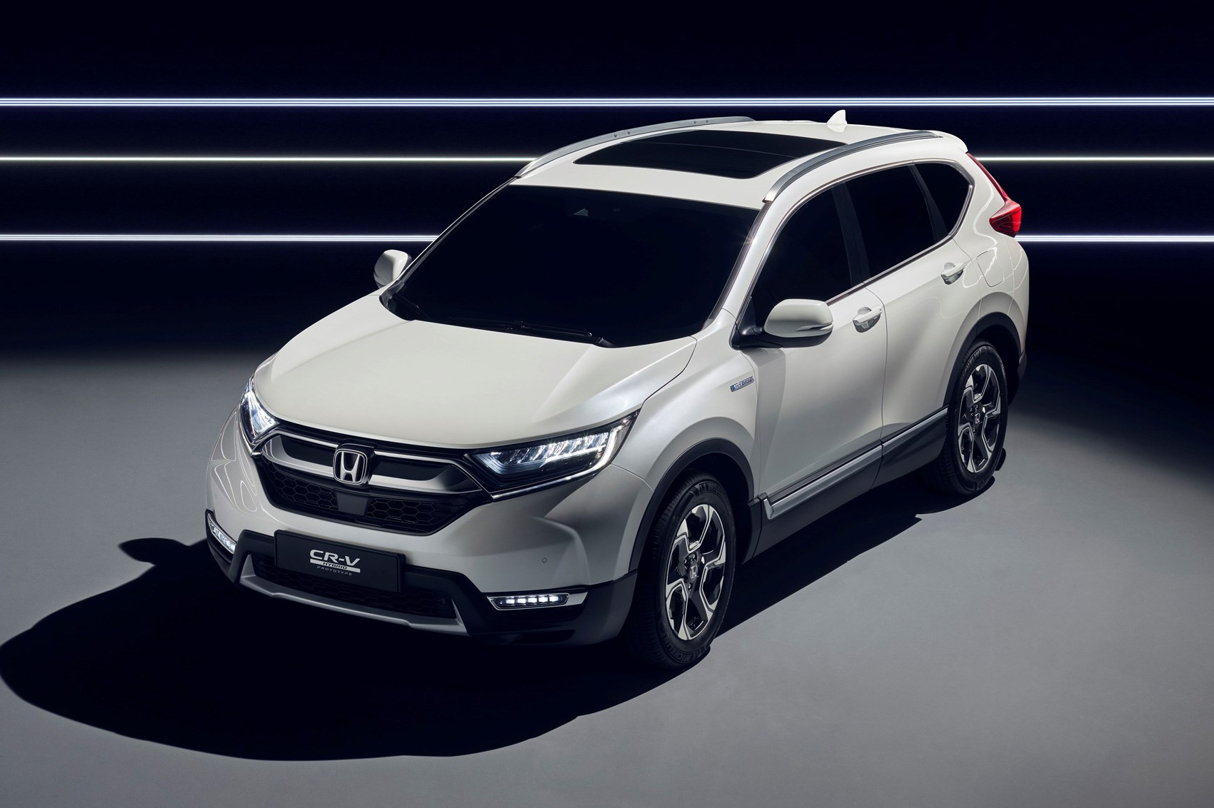 Hybridised honda suv new cr v hybrid prototype hits for Is a honda crv a suv