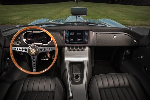 Jaguar E-Type Zero interior