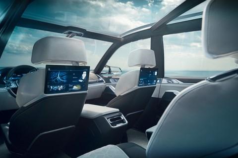 BMW X7 Concept iPerformance rear seats