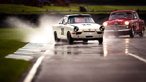 Plumes of water on track made Goodwood Revival 2017 a real test for drivers
