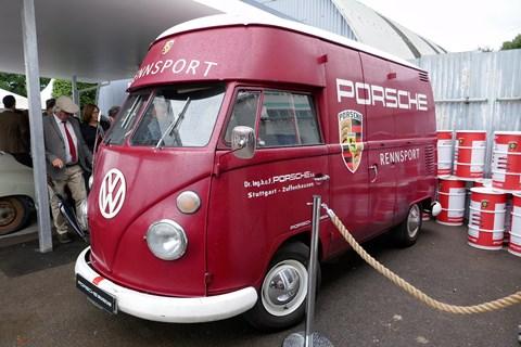 Rennsport-liveried camper van on loan from Porsche Museum
