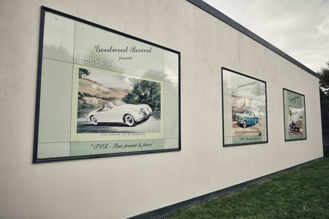 TVRs from the past celebrated on retro posters at 2017 Goodwood Revival