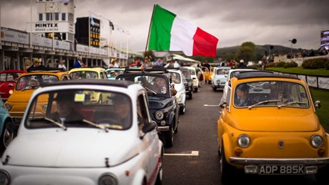 Fiat's 500 celebrated its diamond anniversary at the 2017 Goodwood Revival