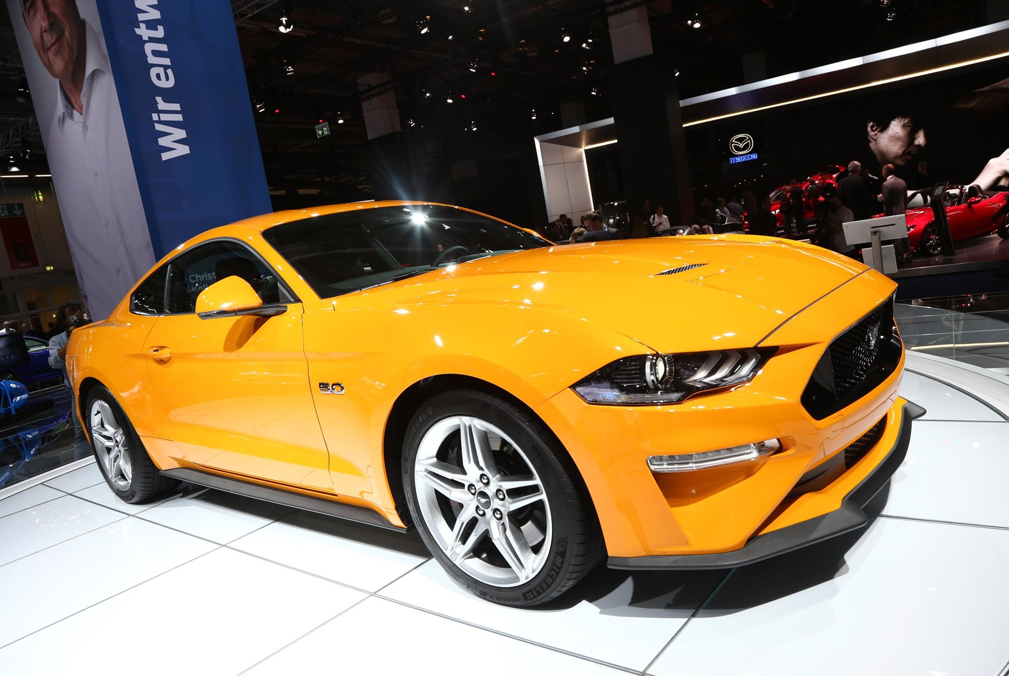 Rebooted ford mustang gets neighbourly at 2017 frankfurt show