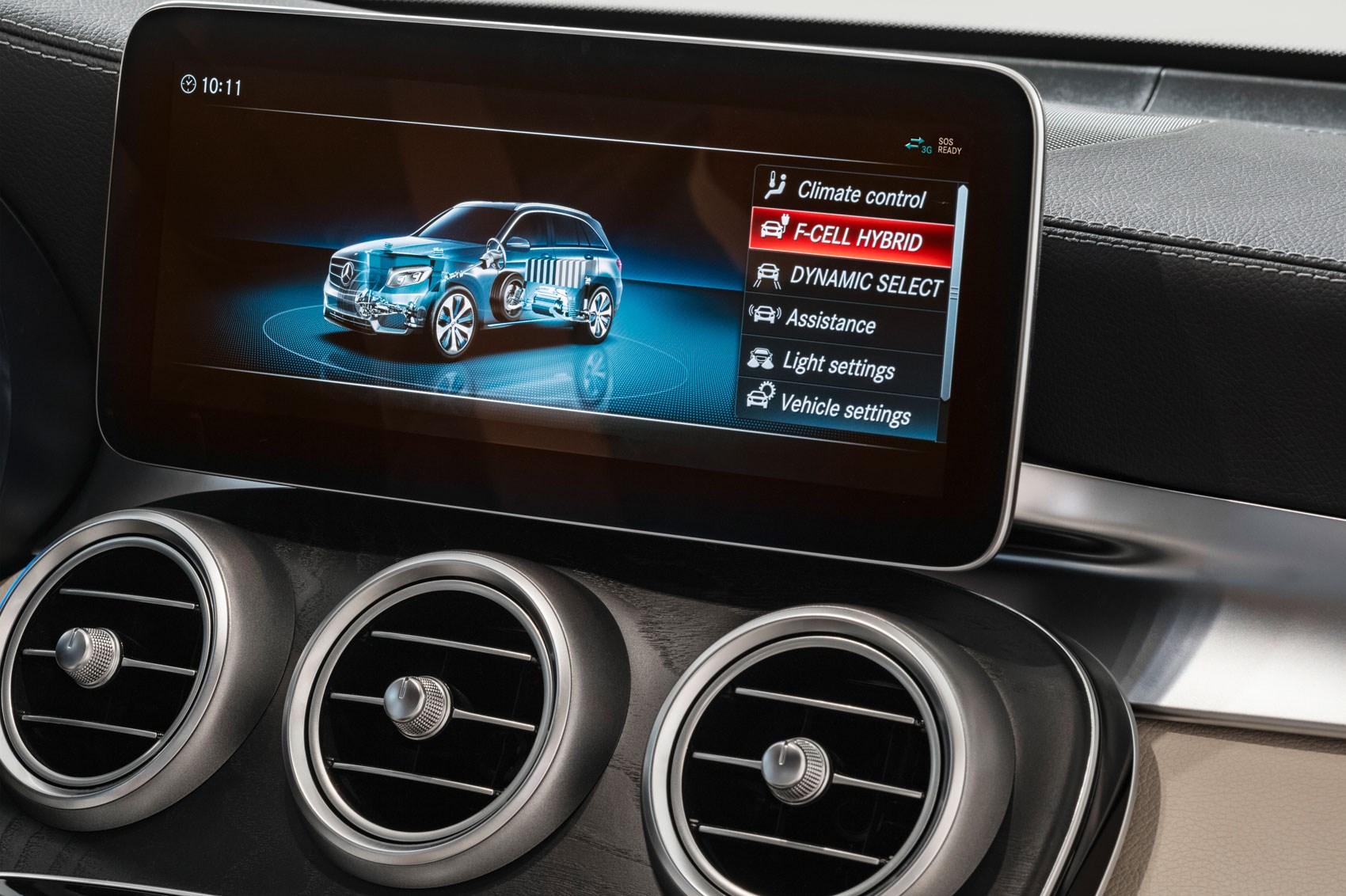 Hydrogen Mercedes Benz Glc F Cell Multimedia Screen