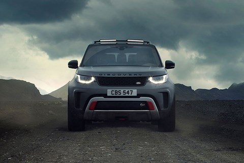 Land Rover Discovery SVX looking angry