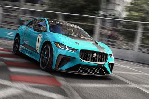 Jaguar i-Pace eTrophy on circuit