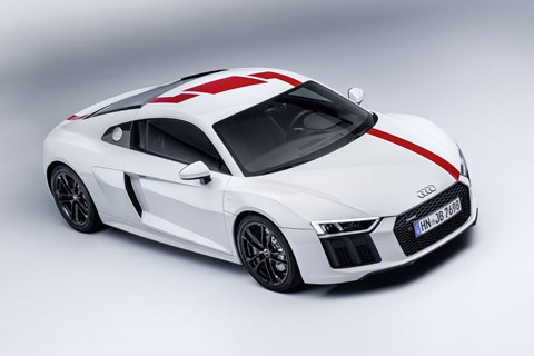 The rear-wheel drive Audi R8