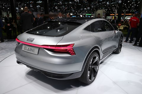 Rear of the Audi Elaine concept at Frankfurt 2017