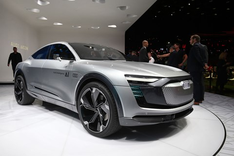 Front of the Audi Elaine concept at Frankfurt 2017