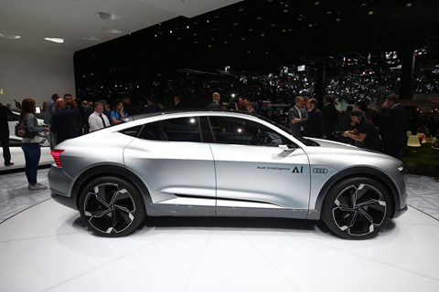Audi Elaine all-electric SUV Coupe concept at Frankfurt 2017